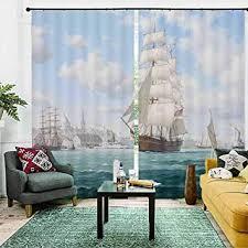 smxfff blickdicht vorhänge segelboot vorhangstoffe für