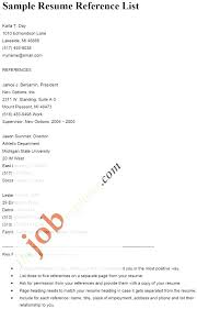 Layout For Resume References Page Here Are Resumes With Sample Of Example Reference Format Templates Re