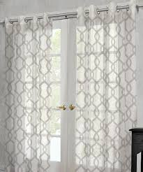 100 Residence Curtains OffWhite Rio Sheer Grommet Curtain Panel Set Of Two