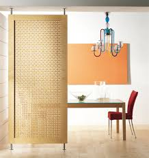 natural room divider panel material using rattan and wood frame