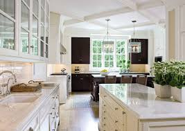 Elegant Large Traditional Kitchen With Marble Countertops Colonial Revival House McLean Virginia