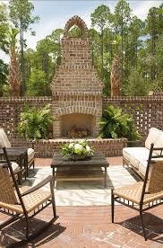 Best 25 Outdoor Fireplace Brick Ideas Pinterest Outside Stylish