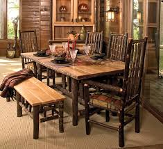 Dining Room Rustic Table Sets Furniture Tables With Bench For Set 700x637