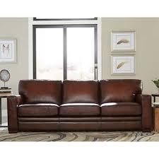 kingston top grain leather sofa