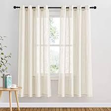 pony gardinen schlafzimmer voile vorhang halbtransparent leinenoptik gardinen für balkontür sonnenlicht filtern ösenschal 2er ser h 180 x b