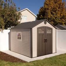 Shed Design Plans 8x10 by 60117 71 Square Ft 491 Cubic Ft The Lifetime 8 U0027 X 10