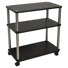 3 Shelf Mobile Home fice Caddy Printer Stand Cart in Black