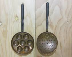 Pair Of Copper Kitchen Utensil Decor Wall Hanging French Country