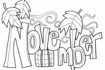 November Coloring Pages To Download And Print For Free Regarding