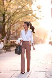 Classic In Camel Wide Leg Pants For Petites Office Attire Women Professional OutfitsBusiness