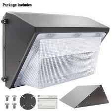 dlc qualified led wall pack light fixture 45w 70w torchstar