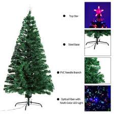 HomCom 5 Pre Lit Fiber Optic Christmas Tree With LED Lights 3