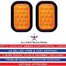 Qty 2-5x3 Amber Rectangle 12 LED Stop/Turn/Tail Fender Truck Light ... Active Truck Parts Hudson Perfect 5 Star Review By Greg J Youtube Ac Used Heavy Trucks Corp Home Facebook Western Wiring Diagrams Best New Wire Center Mufflers Inout Parts Accsories In The All Convoy Held At Buy Photos Iependant Western Star Interior Full Hd Maps Locations Another World Shrek Truck And Ami Star Parts Trailer W111 Payless Qty 25x3 Amber Rectangle 12 Led Stopturntail Fender Light