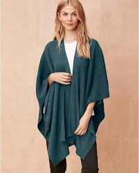 Elevate Your Work To Workout Outfit Spectrum With This Sporty Chic Shawl In Washable Eco Cashmere A Ribbed Texture Adds Dimension