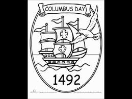 Columbus Day Free Coloring Pages 2014 Sheets For Preschoolers