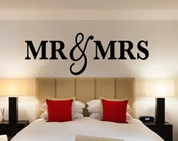 Mr Mrs Wall Sign For Bedroom Decor