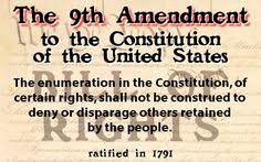 US Constitution 9th Amendment The Enumeration In Of Certain Rights