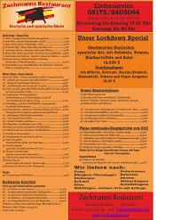 zachmanns restaurant home uetze menu prices