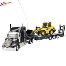 RC Truck Semi Trailer Long Hauler Vehicle+Remote Control Bulldozer ...