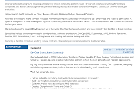Creating A DevOps Resume - Kubedex.com Amazon Connect Contact Flow Resume After Transfer Aws Devops Sample And Complete Guide 20 Examples Aws Example Guide For 2019 Resume 11543825 Sneha Aws Engineer Samples Velvet Jobs Ywanthresume Jjs Trusted Knowledge Consulting Looking Advice Currently Looking Summer 50 Awesome Cloud Linuxgazette By Real People Senior It Operations Software Development