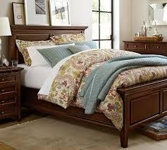 hudson bed mattress set w low box king mahogany pottery