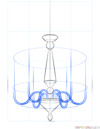 Draw The Chandelier Body Step 4