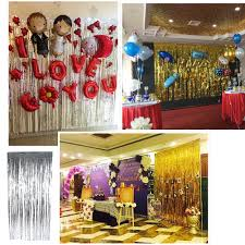 Foil Fringe Curtain Singapore by Metallic Fringe Curtain Party Foil Tinsel Home Party Decor Doorway