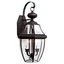 sea gull lighting lancaster 2 light outdoor black wall fixture