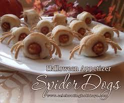 Halloween Hotdog Fingers Recipe by Spider Dogs Recipe Celebrating Holidays