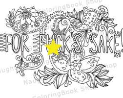 For Fuks Sake Swear Words Printable Coloring Pages Word