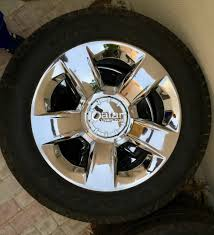 SET Of 4 CHROME WHEELS And TIRES 20 Inch Chevy Silverado Tahoe ...