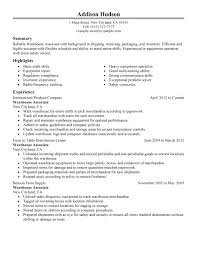 Warehouse Resume Templates Template Worker Objective Basic Math Forklift Samples