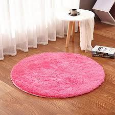 walmics runde plüschmatte rund flauschig weich für baby spielmatte krabbelmatte wohnzimmer schlafzimmer teppich korb pad