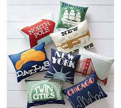 NYC Crewel Embroidered Pillow