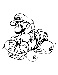 Mario Kart Coloring Pages Printable