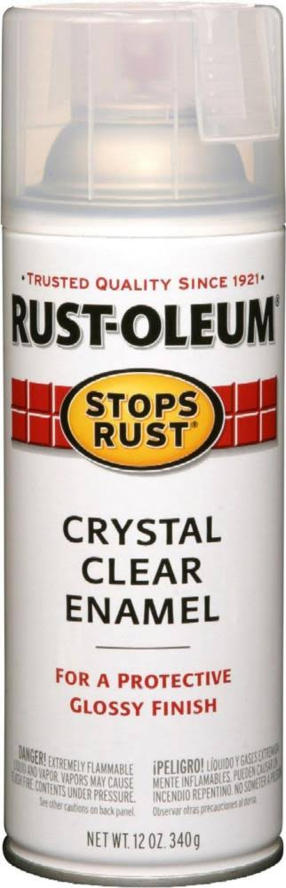 Rust-Oleum Stops Rust Spray Paint - Gloss Crystal Clear, 12 Oz