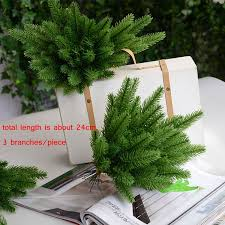 1Pack Artificial Flower Fake Plants Pine Branches Christmas Tree For Party Decorations Xmas Ornaments Kids Gift In Dried Flowers