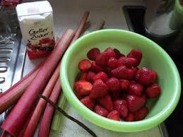 erdbeer rhabarber marmelade mit vanille