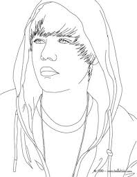 Justin Bieber Singing Face Coloring Page