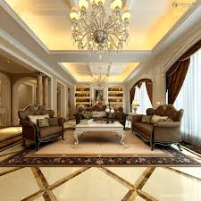 European Ceiling Lighting For Living Room With Brown Sofa
