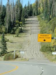 Ramp For Runaway Trucks Travelling On This Very Steep, Switchback ... Runaway Truck Ramp About Trucking Jobs Blog Road Sign Runaway Truck Ramp Forest Stock Photo Edit Now 661650523 Roaming Rita Ramps Video Watch A Semi Slide Into Grapevine Kernam Truck Escape Ramps Semi Hauling Beer Rolls Off Cbs Denver Photos Images New Teton Pass Arrestor Works Saves Vehicle The Speed Killers Aoevolution Tales Of The Moose And Caboose Closed