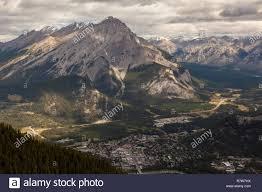 100 Birdview Summer Birdview Of Cascade Mountain And The City Of Banff Alberta