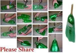 Broom Using Waste Plastic Bottles