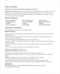 Dental Lab Technician Resume