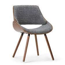Simpli Home AXCMALW-G Malden Mid Century Modern Bentwood Dining Chair With  Wood Back In Grey Woven Fabric   LAVORIST Indoor Chairs Slope Leather Ding Chair Room Midcentury Cane Back Set Of 6 Modern High Mid Century Walnut Accent Wingback Curved Arm Nailhead W Wood Leg Project Reveal Oklahoma City High End Upholstered Ding Chairs Ameranhydraulicsco 1950s Metalcraft 2 Available Listing Per 1 Chair Floral Vinyl Covered With Brown Steel Frames Design Institute America A Pair Midcentury Fniture Basix Kitchen Best For Home