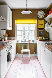 white cabinets green paint small kitchen design ideas