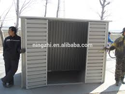 mobile portable shed with roller door for motorcycle Mobile