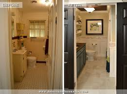 Small Bathroom Remodels Before And After by Hallway Bathroom Remodel Before U0026 After Diy Bathroom Remodel