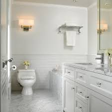 Attractive Bathroom White Subway Tile And Marble Houzz At