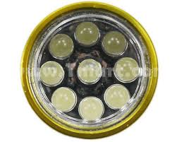 30 lumens 9 led bulbs aluminum rubber mini flashlight torch